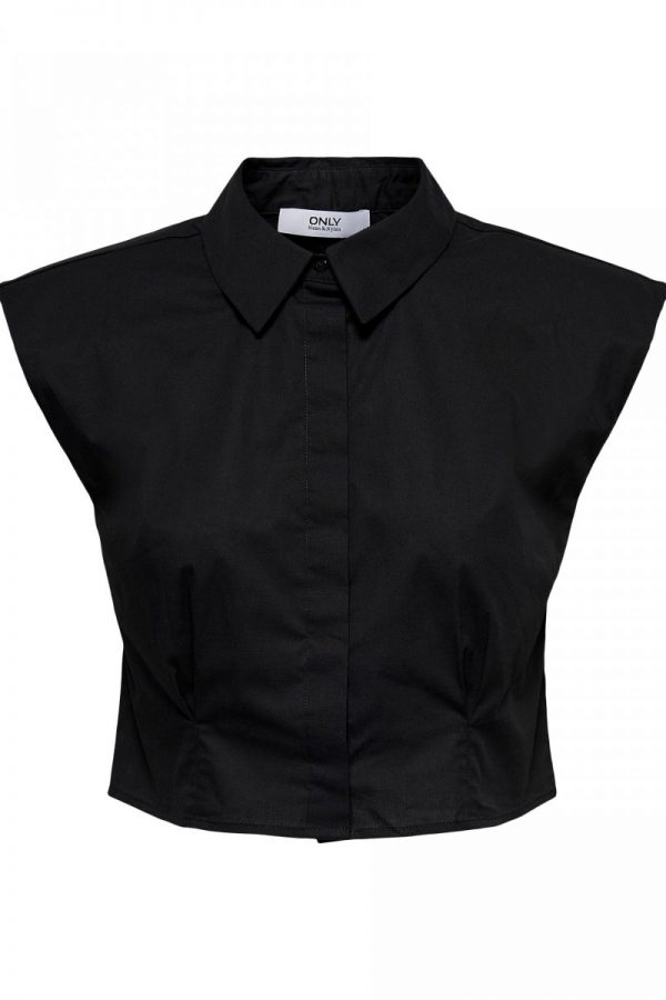 CAMISA ONLY CROPPED NEGRO