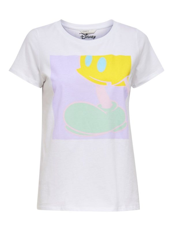 CAMISETA ONLY MICKEY BLANCO