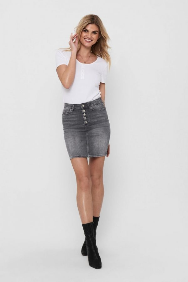 FALDA JEANS ONLY NEGRO