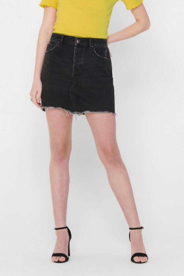 FALDA ONLY JEANS NEGRO