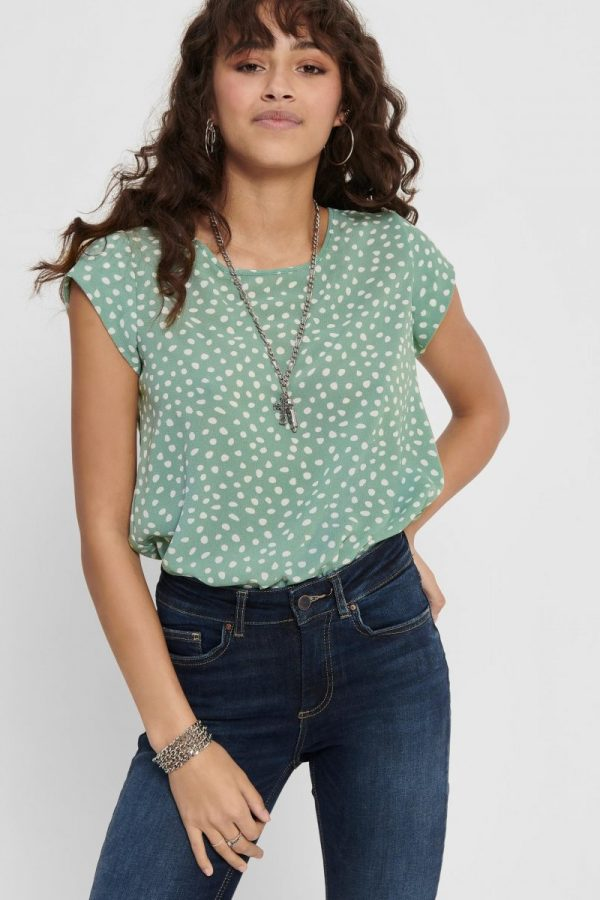 FANCY CHICA BLUSA ONLY DIBUJO VERDE