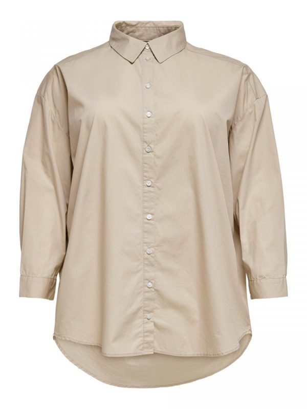 FANCY CHICA CAMISA CARMAKOMA BEIGE