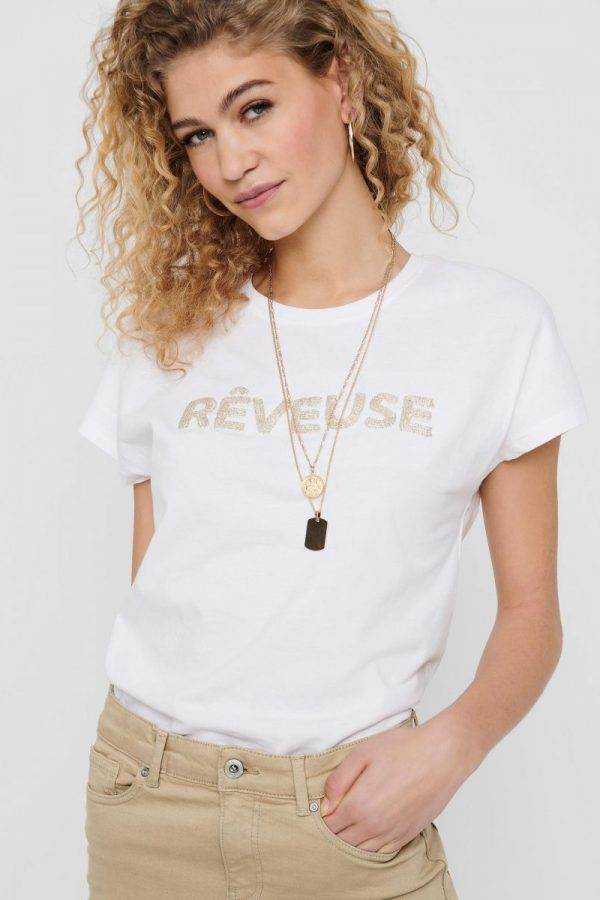 FANCY CHICA CAMISETA ONLY BLANCO
