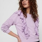 FANCY CHICA CAMISETA ONLY CON VOLANTE MORADO