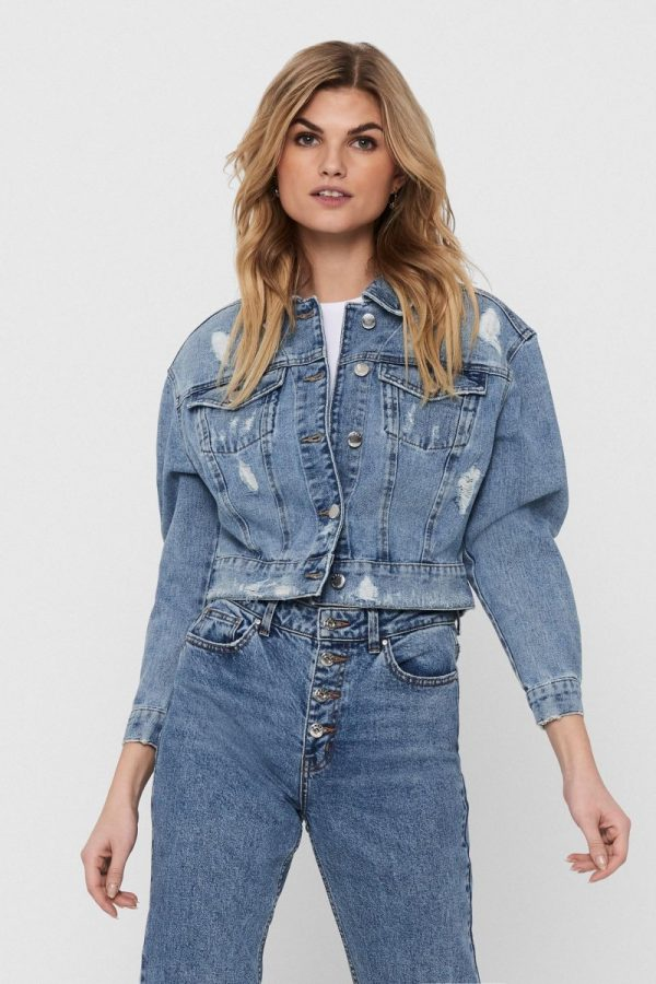 FANCY CHICA CAZADORA ONLY JEANS CORTA