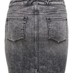 FANCY CHICA FALDA JEANS ONLY GRIS