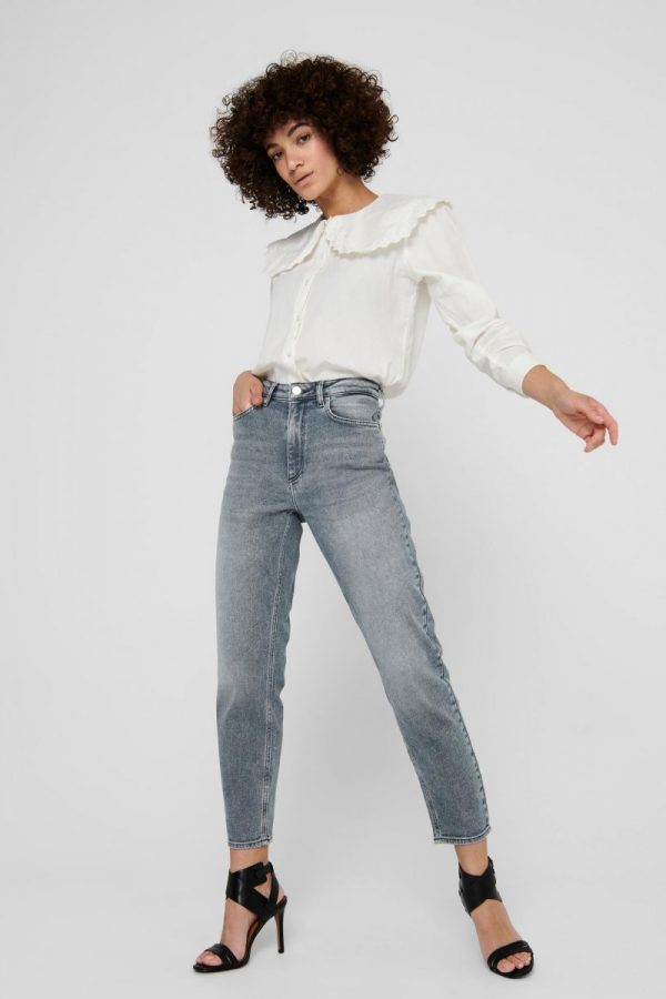 FANCY CHICA PANTALÓN ONLY JEANS LIFE MOM GRIS