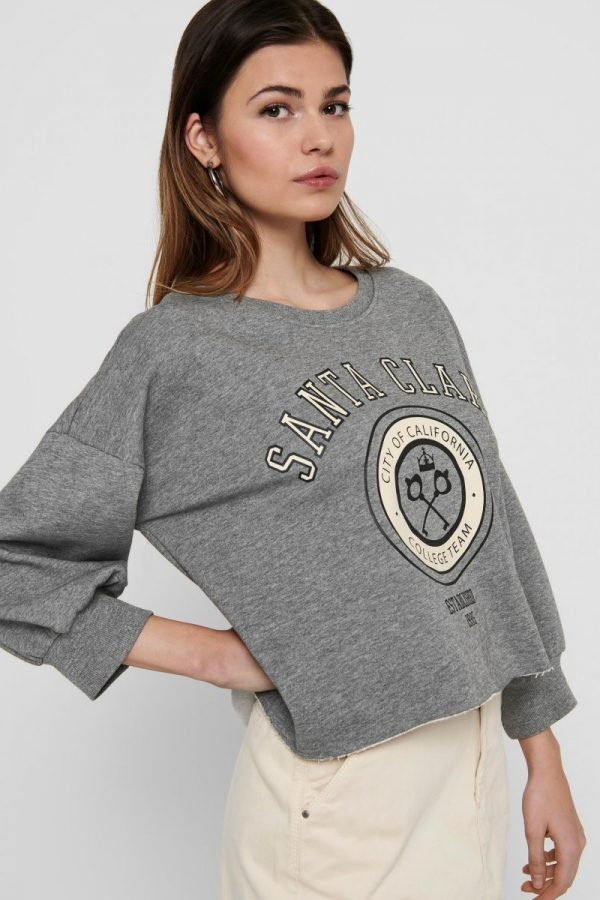 FANCY CHICA SUDADERA ONLY GRIS