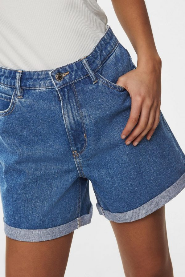 SHORT ONLY JEANS HW MOM