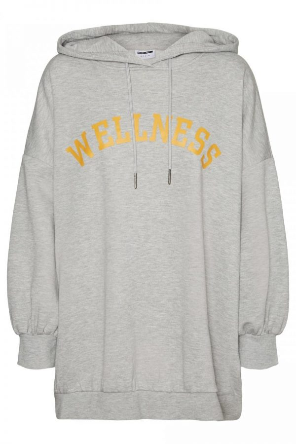 SUDADERA NOISY MAY LETTERING GRIS