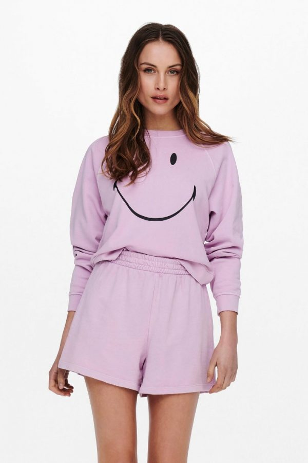 SUDADERA ONLY SMILE ROSA