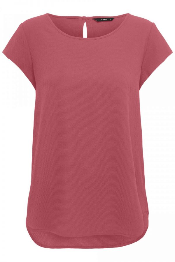 TOP ONLY CUELLO REDONDO CORAL